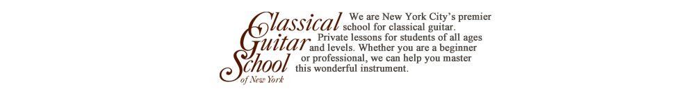 We are New York City's Premier school for classical guitar. Private lessons for students of all ages and levels. Whether you are a beginner or professional, we can help you master this wonderful instrument.